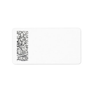 Gothic Thorns Avery Address Labels