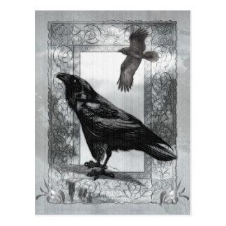 Gothic Victorian Raven Fantasy Art Postcard
