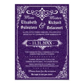 "Gothic Victorian Wedding Invitation 5"" X 7"" Invitation Card"