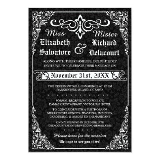 Gothic Victorian Wedding Invitation