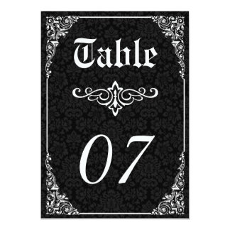 Gothic Victorian Wedding Table Numbers 13 Cm X 18 Cm Invitation Card