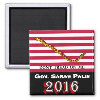 Gov. Sarah Palin 2016 - Don't Tread On Me Magnet