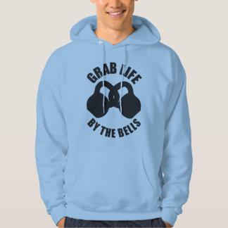 Grab Life by The Bells - Kettlebell Hoodie