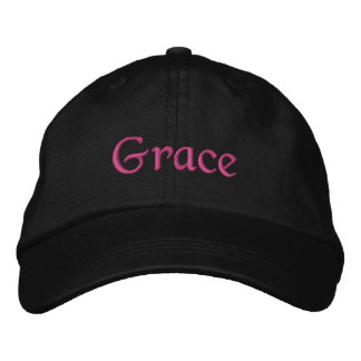 Grace hat embroidered hat