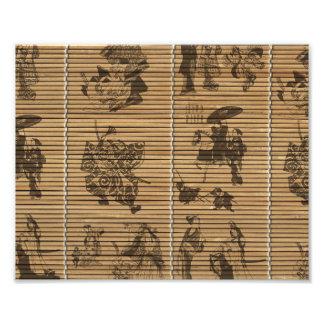 graceful Bamboo Look Custom pattern geisha samurai Art Photo