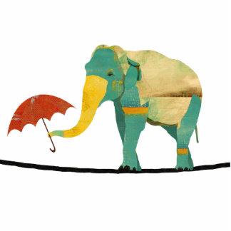 Graceful Elephant Sculpture Standing Photo Sculpture