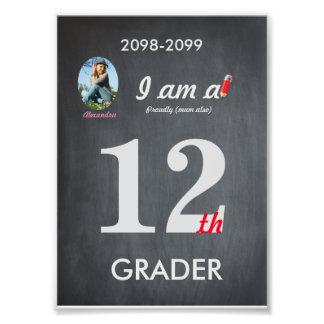 Grader 12th photo,low price,Chalkboard, frame it! Photo Art