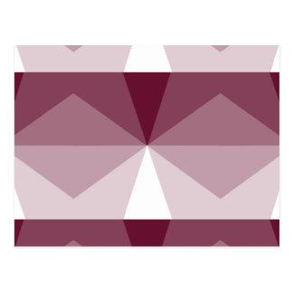 Gradient Cube  Burgundy to White Postcard