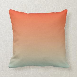 Gradient: Orange Red to Magic Mint Cushions
