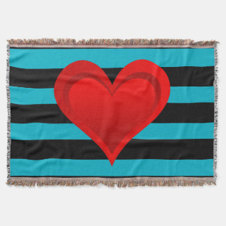 Gradients RED LOVE HEART + your backgr. & ideas Throw Blanket