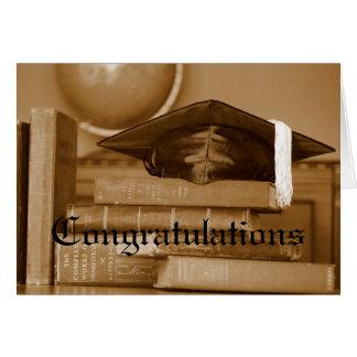 Graduate Congratulations Classic Books Card