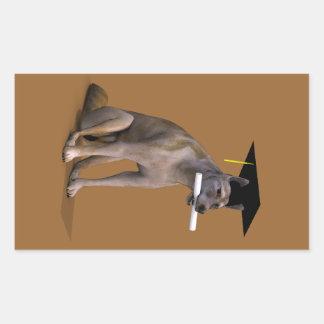 Graduate Coyote Rectangular Sticker