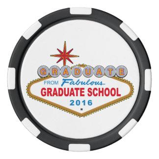 Graduate From Fabulous Graduate School 2016 (Vegas Poker Chips