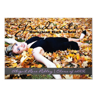 Graduate Photo - 3x5 Chalkboard Stripe Card