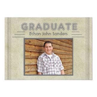 Graduate Retro Lines  - Graduation Announcement
