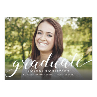 Graduate Script, Graduation announcement