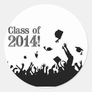 Graduation 2014 classic round sticker