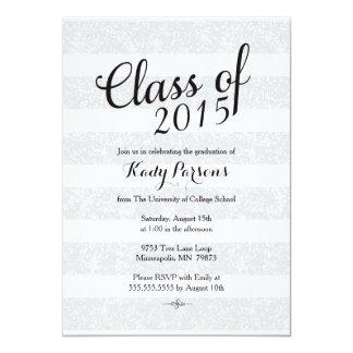 Graduation Announcement - gray and black glitter