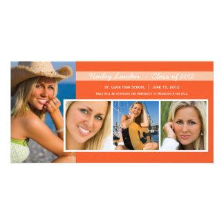 Graduation Announcement Photo Cards    Orange