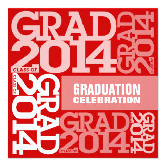 Graduation Celebration Invitation 2014 Red