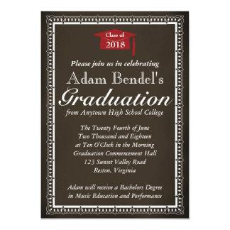 Graduation Certificate Announcement - Chalkboard