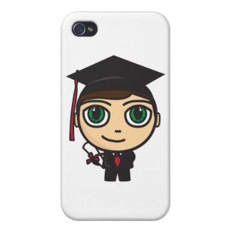 Graduation Character iPhone 4 Matte Finish Case