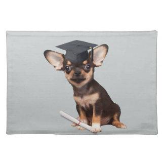 Graduation Chihuahua dog Placemat