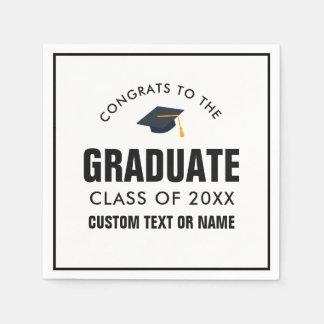 Graduation Class of 2018 Your School Custom Color Disposable Napkins