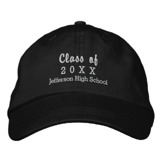 Graduation Class of 20XX Custom High School Name Embroidered Hat