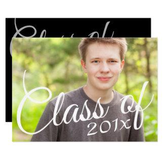 Graduation Classy Script Announcement Party