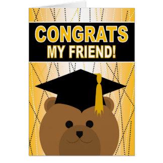 Graduation Congratulations for Friend Card