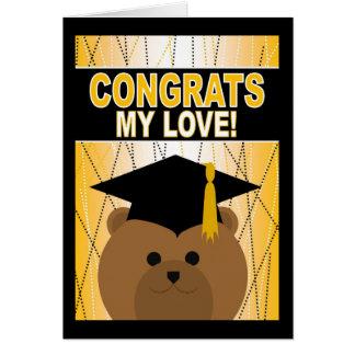 Graduation Congratulations for My Love! Card