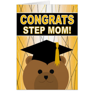Graduation Congratulations for Step Mom Card