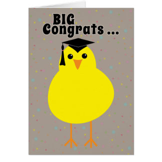 Graduation Congratulations to One Smart Chick Card