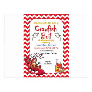 Graduation Crawfish Boil Party Invitation Postcard