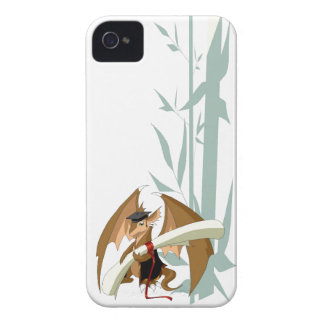 Graduation Dragon with Bamboo iPhone 4 Cover