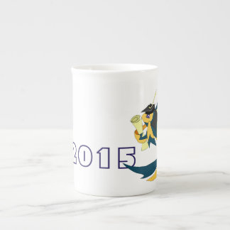 Graduation Fish Porcelain Mug