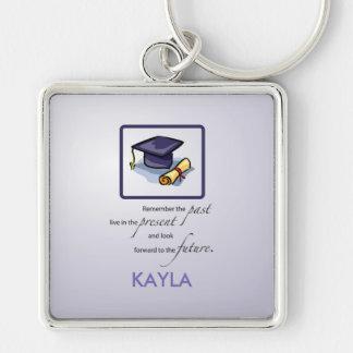 Graduation Hats in Air, Custom Square Gift Key Ring