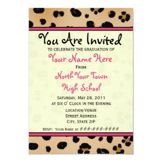 Graduation Invitation - Class of 2011 Leopard