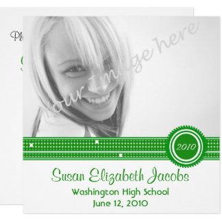 Graduation Party - Green & White Invite