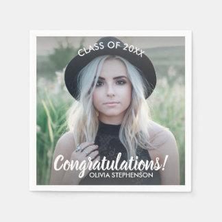 Graduation Photo Class 2018 Congratulations Custom Paper Serviettes
