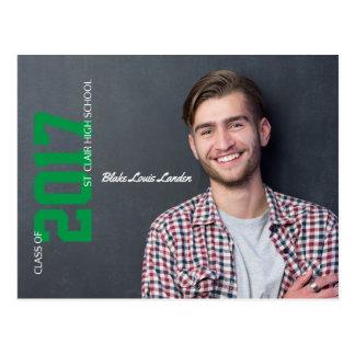 Graduation Postcard Announcement    Green