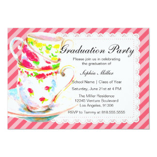 Graduation Tea Party Invitation