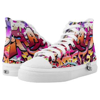 Graffit Zipz High Top Shoes, US Men 4 / US Women 6 Printed Shoes