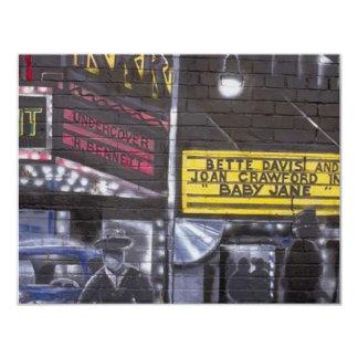 Graffiti 10 11 cm x 14 cm invitation card