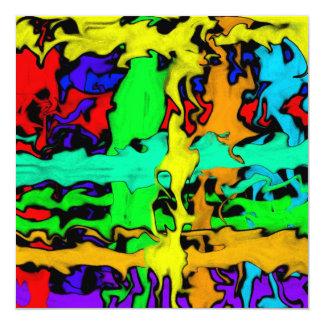 Graffiti 13 Cm X 13 Cm Square Invitation Card