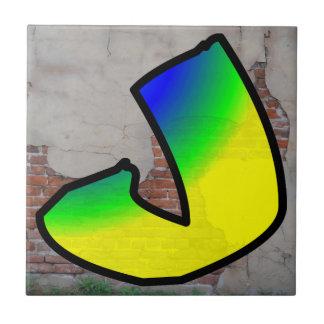 GRAFFITI #1 J CERAMIC TILE