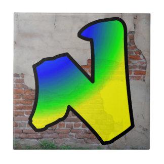 GRAFFITI #1 N CERAMIC TILE
