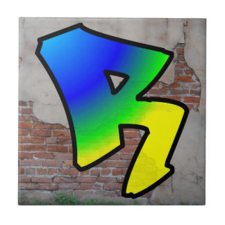 GRAFFITI #1 R CERAMIC TILE