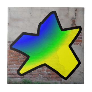 GRAFFITI #1 STAR CERAMIC TILE